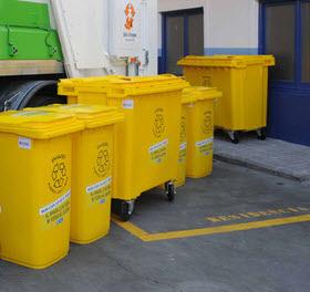 El uso del contenedor amarillo creció un 8% y del azul un 2,7% en 2020