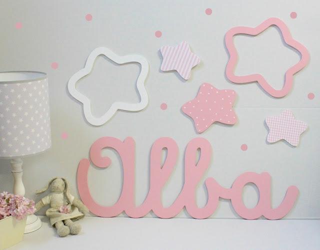 Nombres infantiles personalizados para pegar en la pared