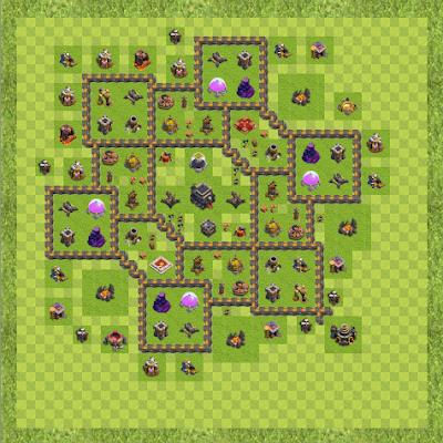 War Base Town Hall Level 9 By Amu (AMU Farming TH 9 Layout)