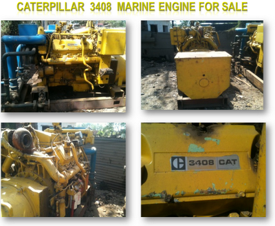 CAT 3408 Auxiliary engines, Caterpillar marine engines for sale