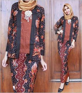 model busana muslim batik kombinasi