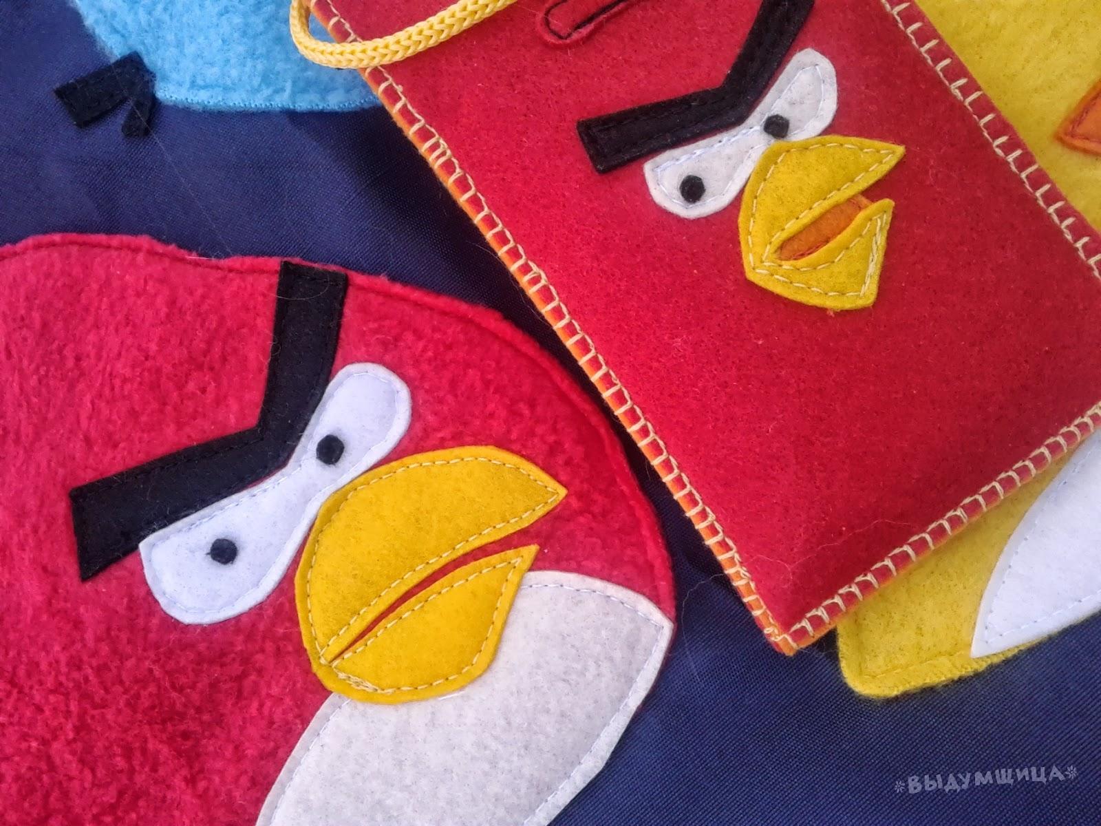 angry birds фетр аппликация
