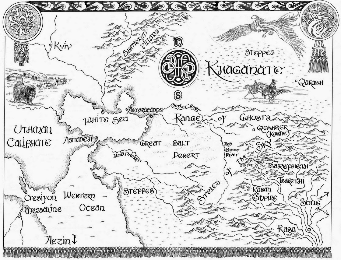 a Fantasy Reader New map  Elizabeth Bears Eternal Sky