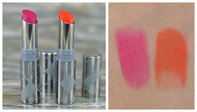 Catrice graphic grace LE powdery lips Lippenstifte CO1 straight style und CO3 dimensional design Swatches