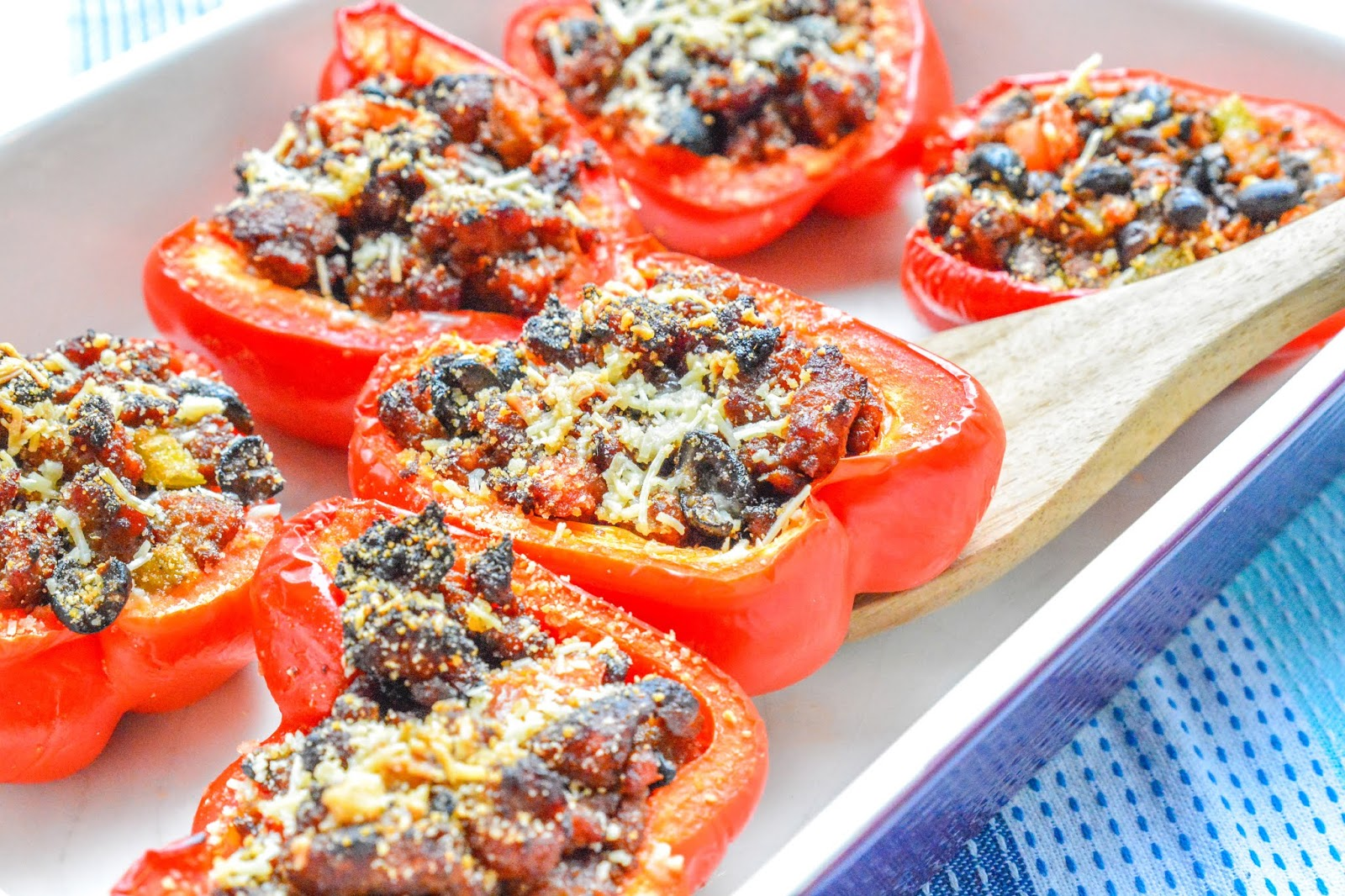 Sausage Stuffed Red Peppers