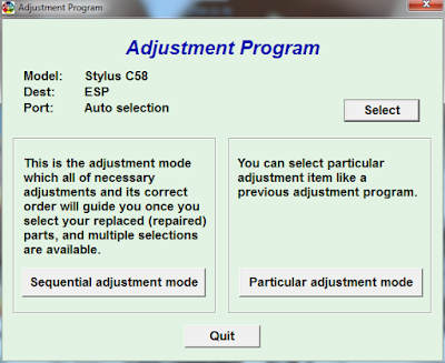 Download Resetter Epson Stylus C58
