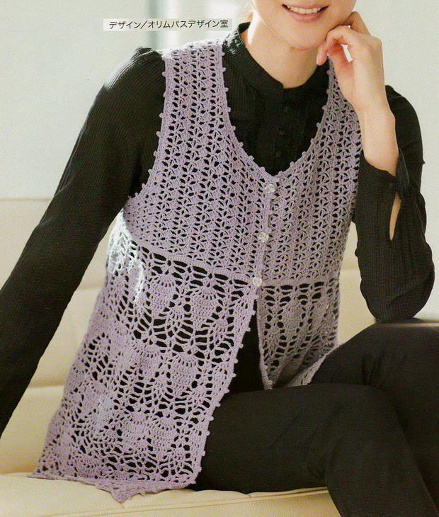 Crochet Sweaters: Crochet Vest Pattern For Women