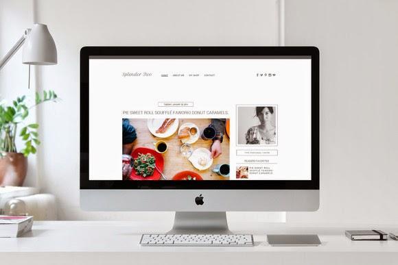 Download Premade Blogger Template Splendor 2 Free – Creativemarket