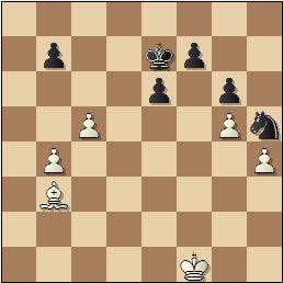 Partida de ajedrez Albareda - Bordell, 1957, posición después de 39.Rxf1