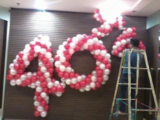 dekorasi balon bentuk angka