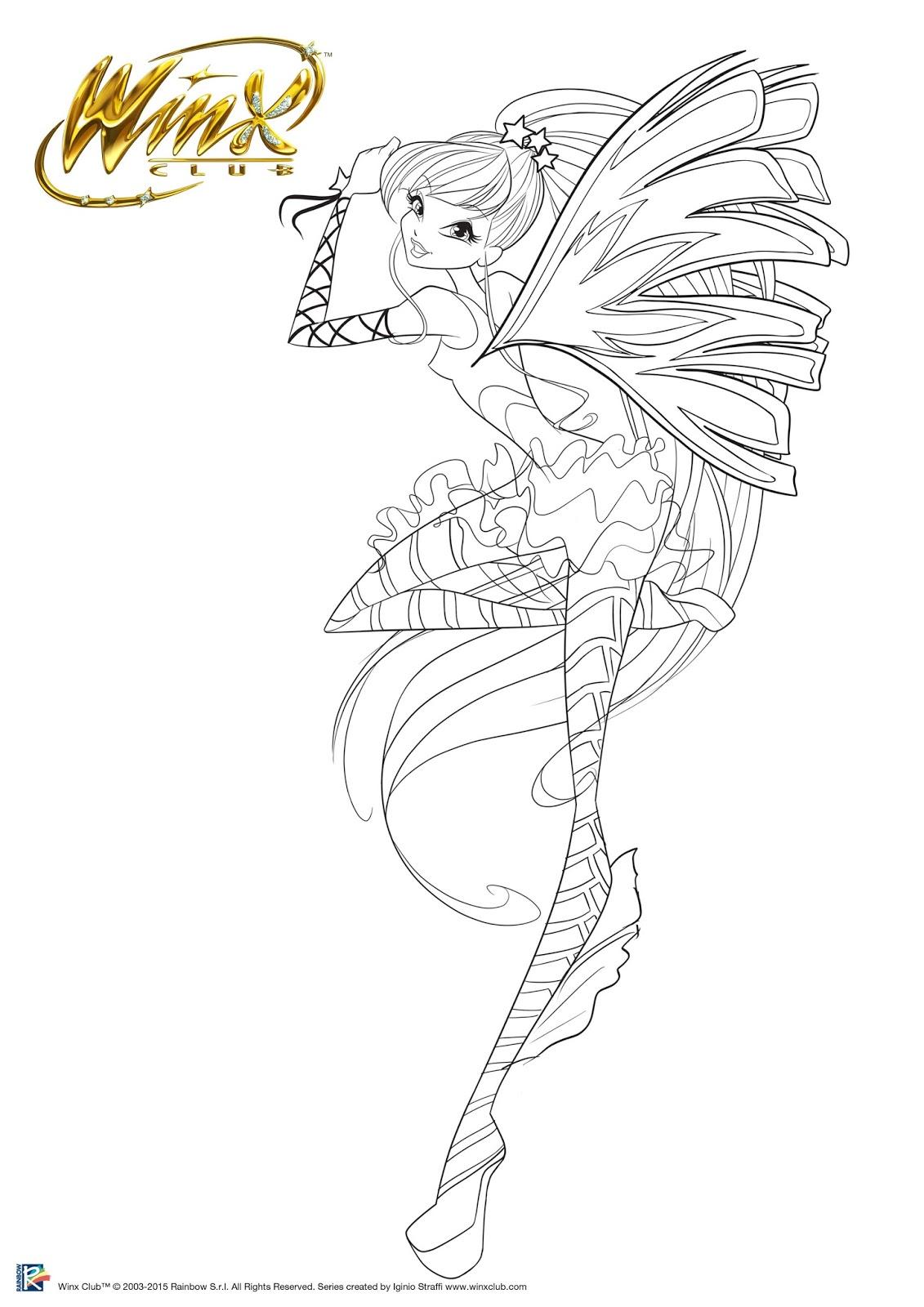 Winx Sirenix Imagens Para Colorir Winx Club Epis 243 Dios