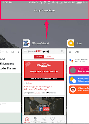 Drag the app to the area shown on the screenshot