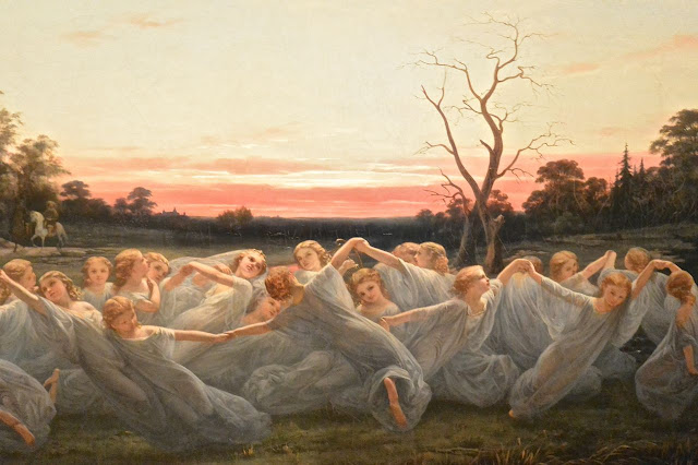 Stockholm : national museum  Nils Olsson Blommer :  Fairies on the Meadow (1850)