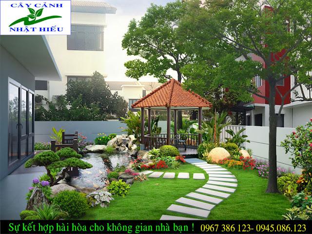 Thiết kế sân vườn đẹp và phong thủy