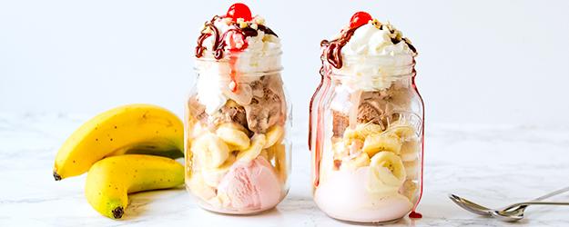 weckglas bananen split rezept