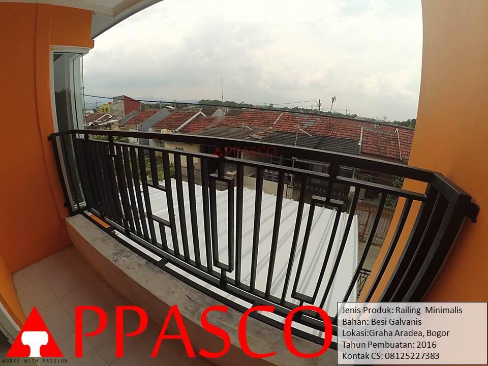 Railing Balkon Teras Minimalis di Bogor