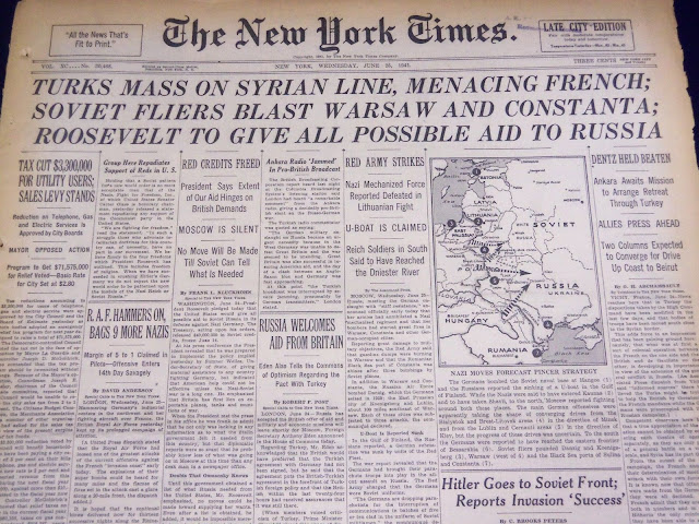 New York Times 25 June 1941 worldwartwo.filminspector.com