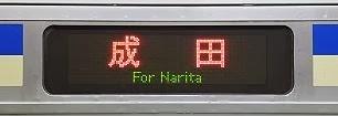 総武横須賀線 成田行き表示 E217系
