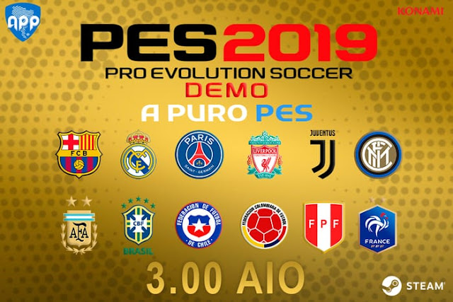 PES 2019 DEMO PATCH V3.00 + V3.01 ADD MORE TEAMS AIO