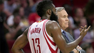 Rockets coach Mike D'Antoni wants James Harden to double his assist average
