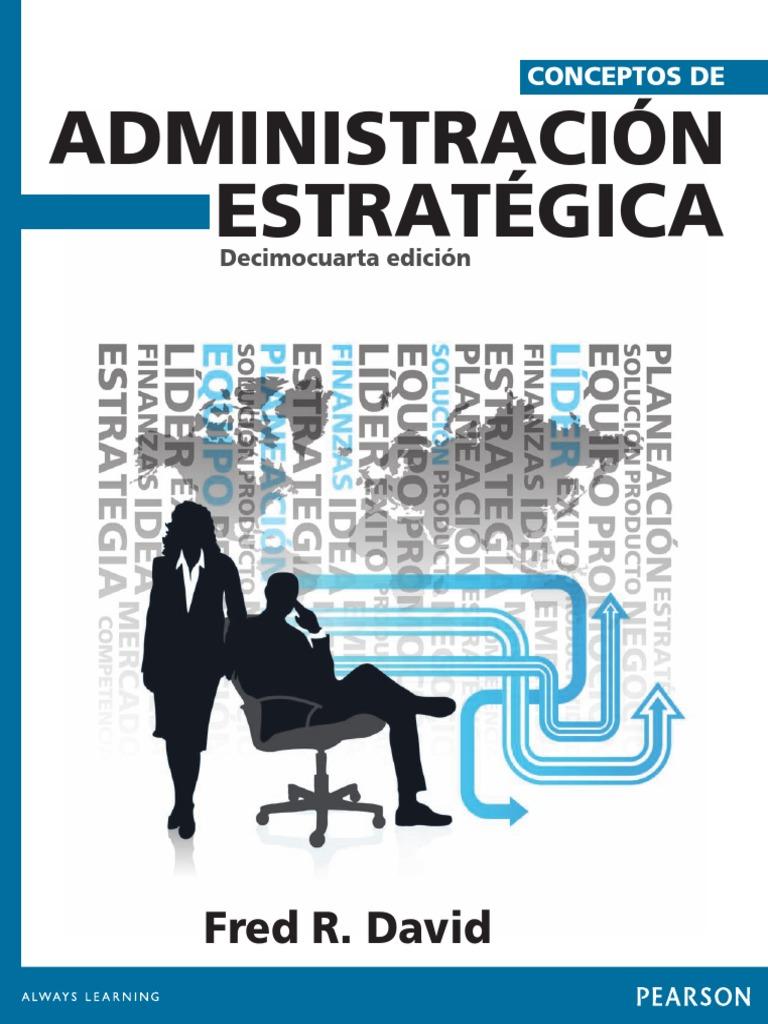 libro conceptos de administracion estrategica fred david 15 edicion pdf