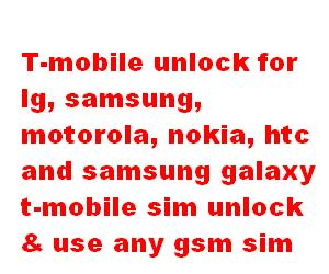 Unlock code for mobile phones Nokia Lg Samsung Free Unlock