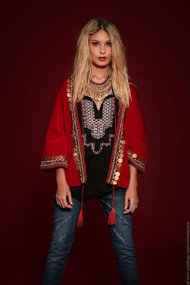Chaquetas invierno 2016 ropa de moda mujer Sophya marca argentina de moda 2016.