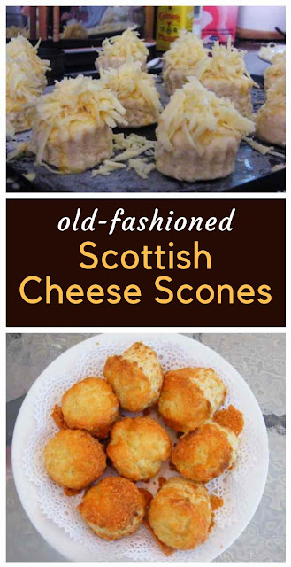 These easy cheese scones are very cheesy and light. Perfect on their own whilst still warm or served with soup. #cheesescones #scones #traditionalscones #scottishscones