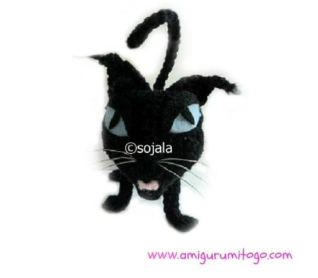 Black Cat Crochet Pattern Black Cat Amigurumi Amigurumi Cat | Etsy | 394x450