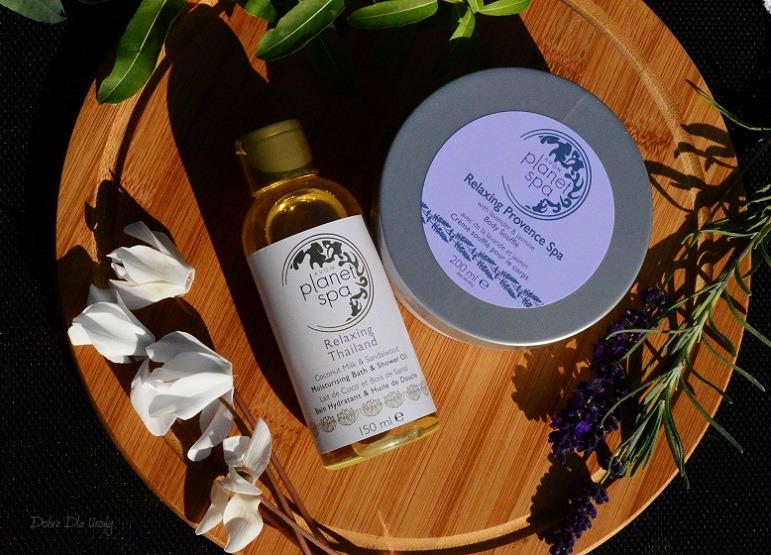 Avon Planet SPA - olejek do kąpieli i pod prysznic Relaxing Thailand oraz mus do ciała Relaxing Provence