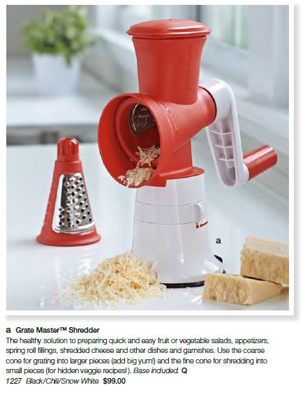 Tupperware Grate Master Shredder
