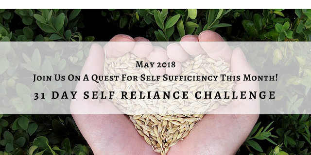 Self-Reliant Challenge, one month to a more self-reliant life. #selfreliantchallenge