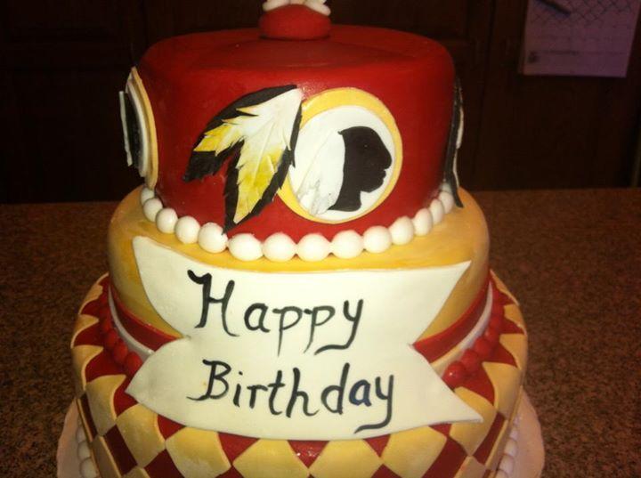 Katrina S Custom Cakes Redskins Cake