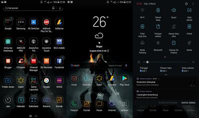 Download Tema Keren dan Terbaik untuk Samsung Galaxy S8 dan juga J7 Gratis