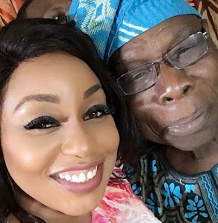 Nollywood Super Star, Rita Dominic Vs Baba Obasanjo In A Selfie