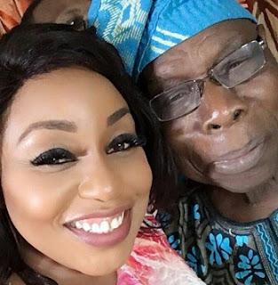 Nollywood Super Star, Rita Dominic Vs Baba Obasanjo In A Selfie