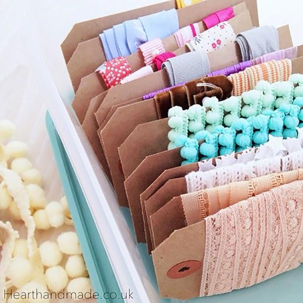 Organised Ribbon Storage