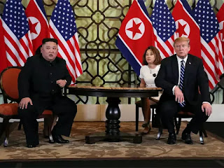 Trump and Kim met Thursday, the morning after they opened the summit in Vietnam.