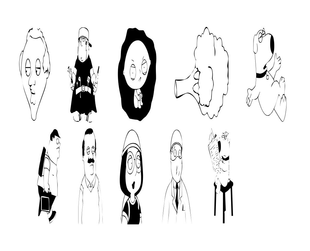 Brown Aquini Cartoon Characters