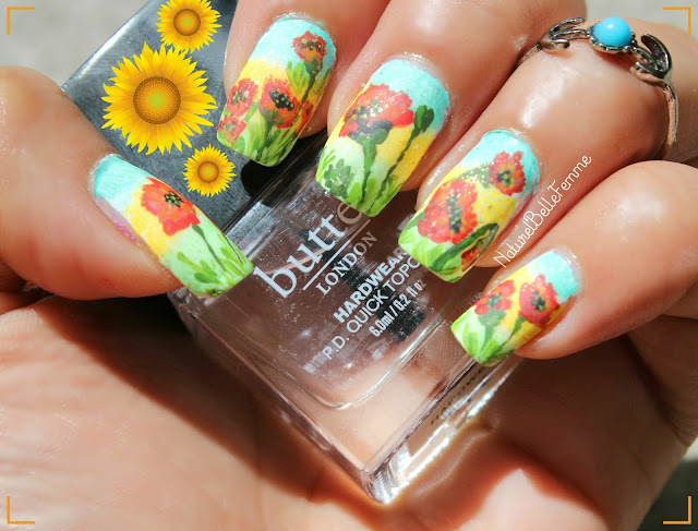 poppy flower nails