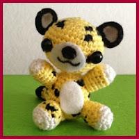 Leopardo amigurumi