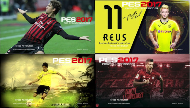 PES 2017 Start Screen Pack V3 By Ez