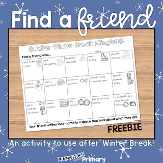 Find a Friend After Winter Break Activity