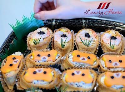 cute rilakkuma inari sushi appetizers