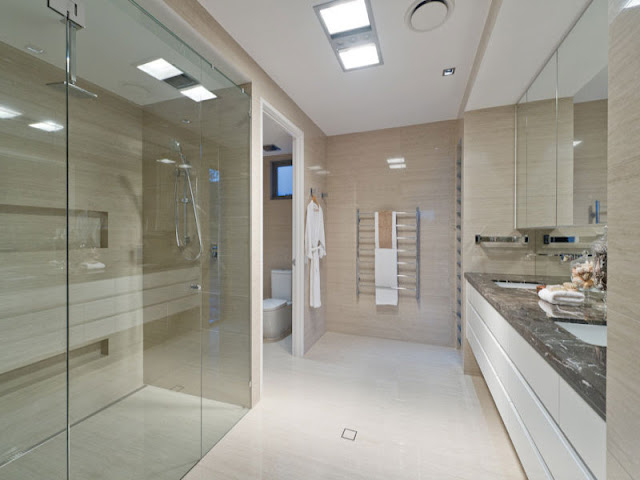 Photo of modern bathroom interiors in contemporary home in Brisbane