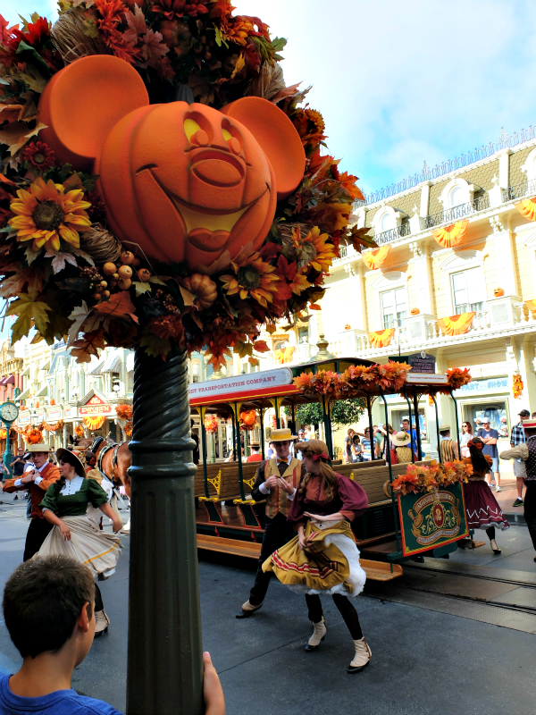 Walt Disney World's Magic Kingdom Autumn Decorations