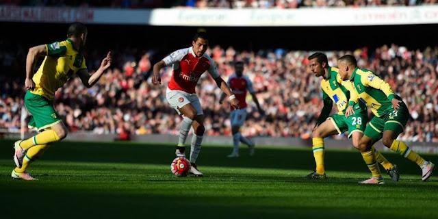 Arsenal tanpa gol babak pertama menjamu Norwich City