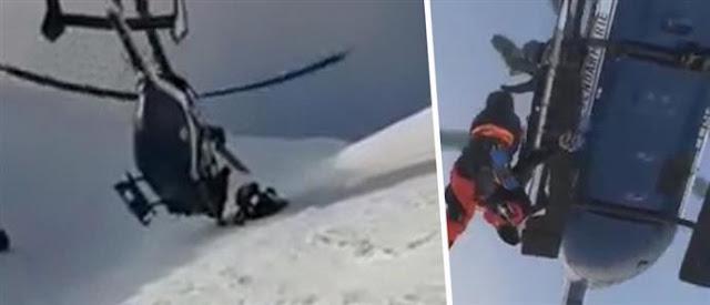 Εντυπωσιακή διάσωση 19χρονου  ορειβάτη από τις Άλπεις (βίντεο)