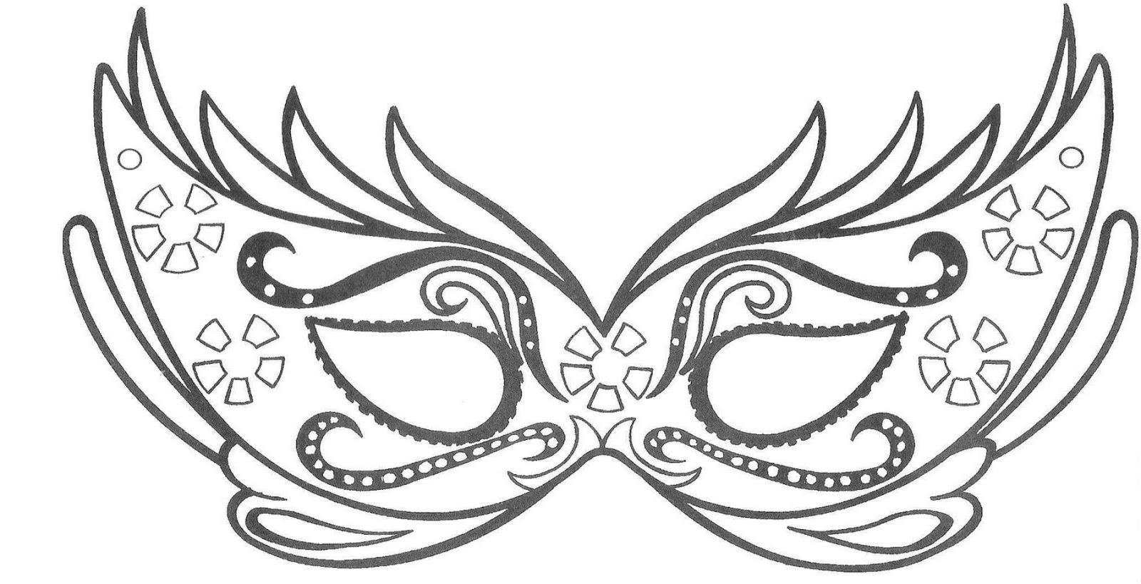 Carnevale disegno da colorare n 4 for Immagini maschere carnevale da colorare
