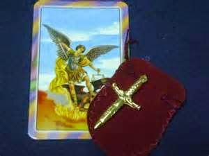 St Michael Prayer Card and Sword, Espada de San Miguel